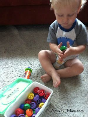 DYI learning activites for 18 Month Old (probably wouldn't do the magnets quite yet)