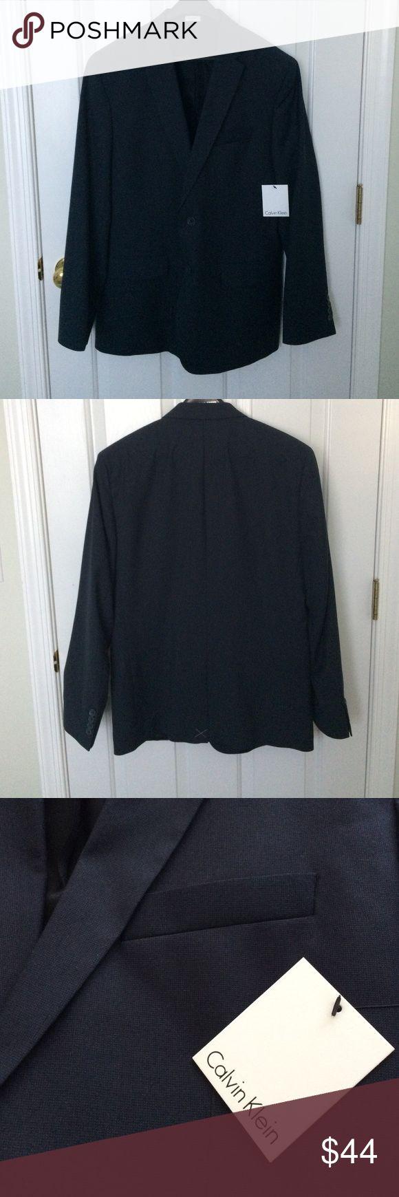 Men's Calvin Klein Navy Blazer NWT. Men's Calvin Klein Blazer- Officer Navy. Medium. Calvin Klein Suits & Blazers Sport Coats & Blazers
