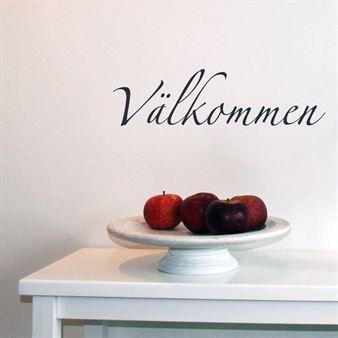 Välkommen väggdekor     269 SEK