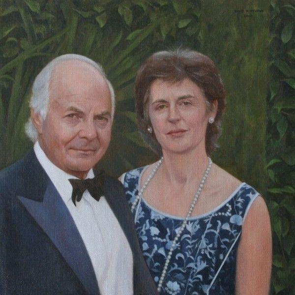 David Newens 'Mr and Mrs de Jaeger' 24x24in