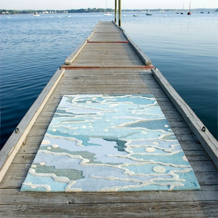 Ocean/Seaglass rug by Angela Adams.  Heaven under your toes.