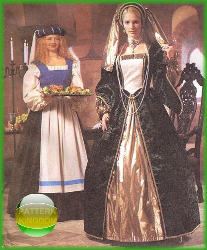 Renaissance Faire Wedding Dress Gown Costume History Mccalls: 235 Best Images About Ladies Medieval Renaissance Costume