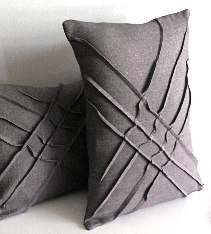 X-Pleat Linen Accent Pillow | Toss this dashing pillow onto your couch or favorite chair for... | Throw Pillows
