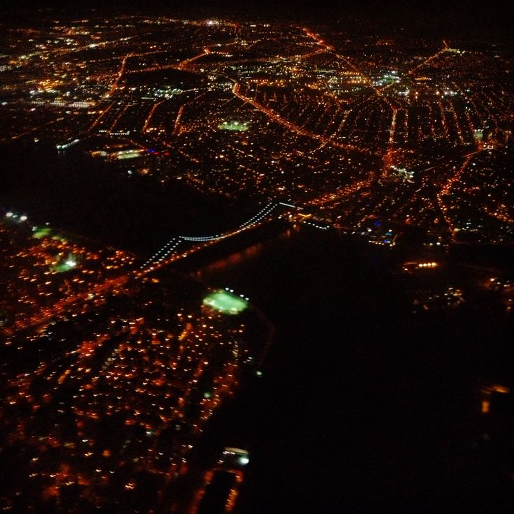 Landing at JFK Airport (View of NYC)