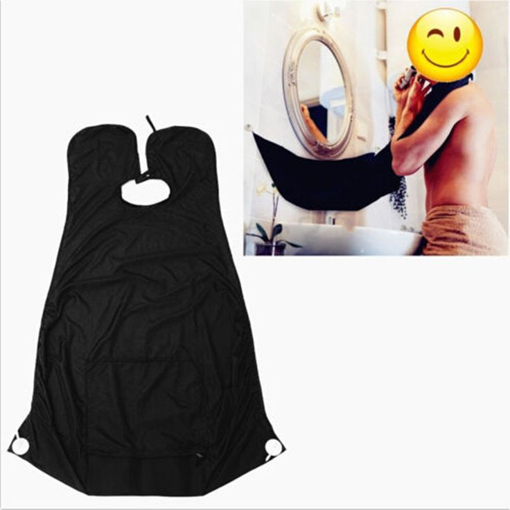 Pongee Beard Care Shave Apron Bib Trimmer Facial Hair Cape Sink Black Shaving Aprons #clothing,#shoes,#jewelry,#women,#men,#hats,#watches,#belts,#fashion,#style