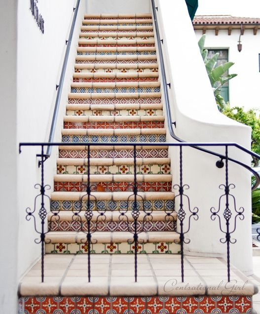 a collection of beautiful tiled staircases on the blog today