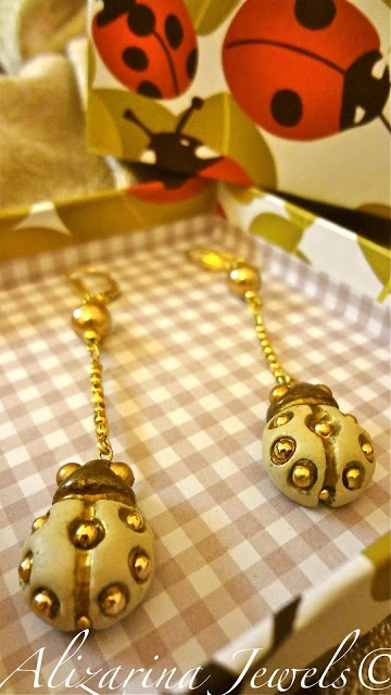 """Earrings  """"Ladybugs""""  on Thun Style"""