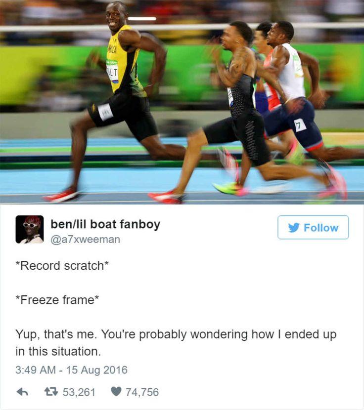 Hilarious Reactions to Usain Bolts Winning Photo Finish in Rio - BlazePress