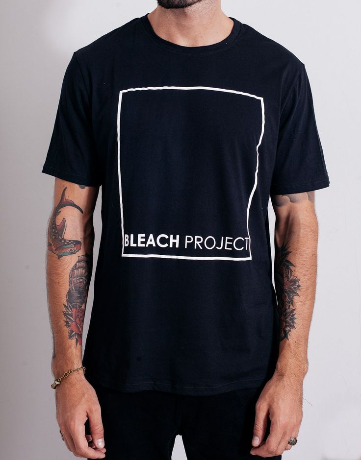 Bleach BP Square Tee Black