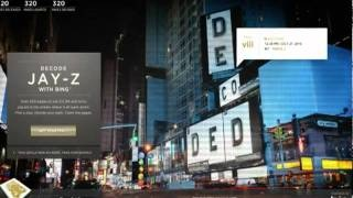 Decoded - Advertising campaign of Jay-Z's book with Bing Maps, via YouTube.