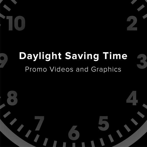 Use these videos, slides, and social media graphics to remind your attenders to set their clocks forward or back, depending on the season, and they'll be on time to church.