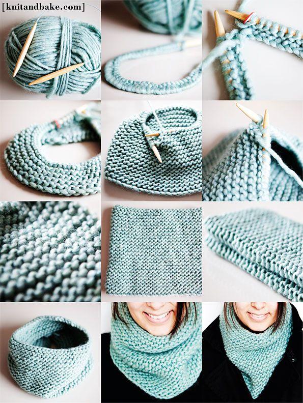 Ravelry: Seamless Garter Stitch Cowl by Diana Levine