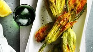 Deep-fried zucchini flowers