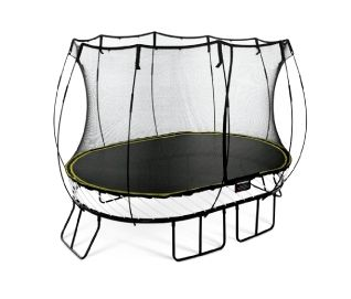 Worlds safest springless trampoline, lifetime warrantee. Still really bouncy :)