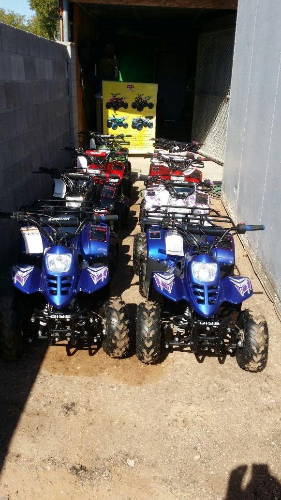 Brand new kids quads, atv, utv, go cart kart, pit bike in Avondale, AZ (sells for $545)