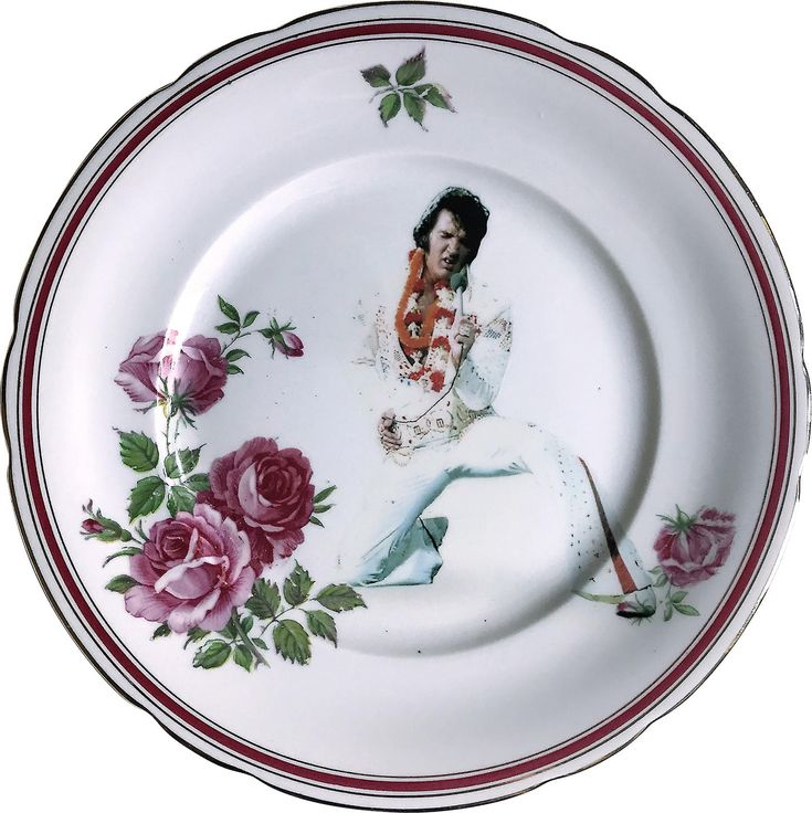 Elvis Presley - The King - Vintage Porcelain Plate - #0577 by ArtefactoStore on Etsy