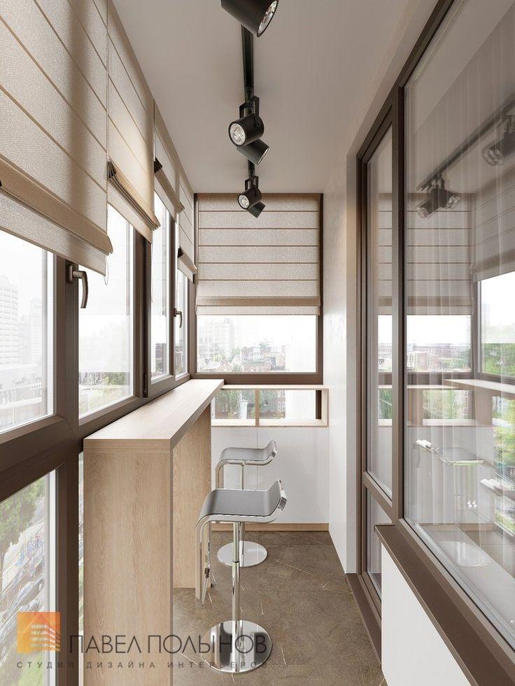 Фото: Дизайн интерьера лоджии - Интерьер квартиры в современном стиле, ЖК «Московский квартал», 130 кв.м.