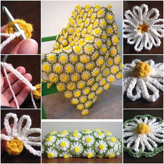 DIY Vintage Crochet Daisy Motif BlanketCreative Ideas | Creative Ideas