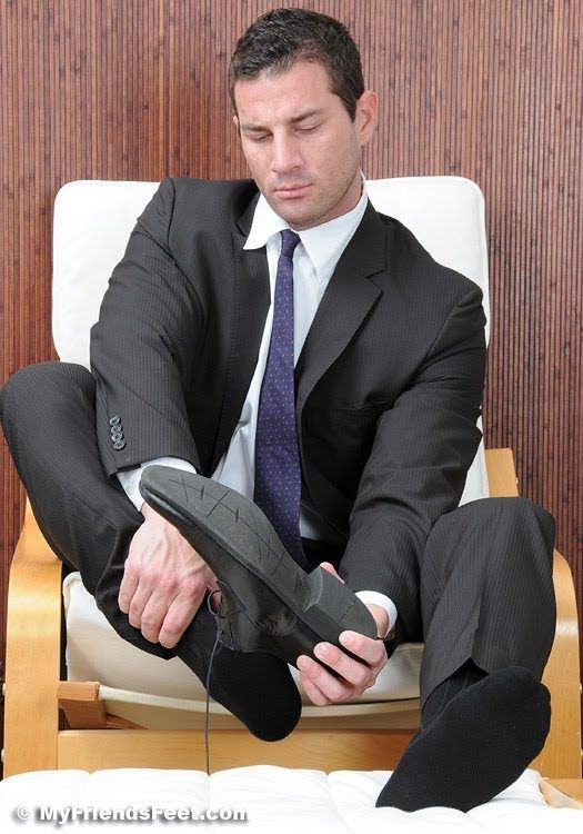 Business meeting foot worship - 1 part 10