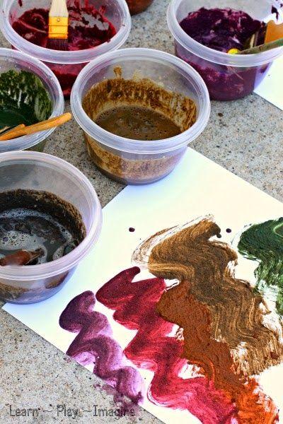 Com fer pintura de fang - Una recepta de pintura sensorial per a la primavera