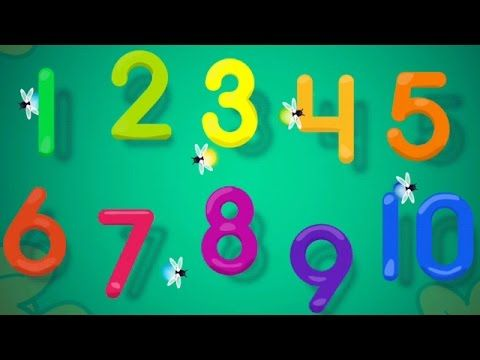 Toddlers learn 123 tracing with paint sparkles draw drill HD   Counting ...