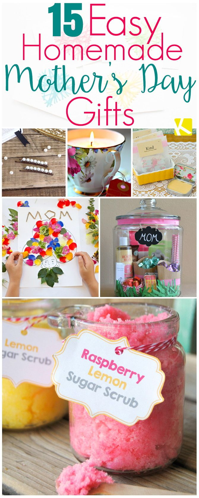 Easy Mother's Day presents for kids to make for their mothers, grandmothers and aunties!