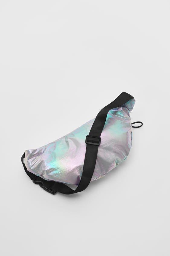 Iridescent Belt Bag With Zip Closure. Label Detail With Text. Fabric Lined Interior. Contrasting Adjustable Handle. Iridescent, Zara, Belt, Detail, Fabric, Diys, Handle, Canada, Closure