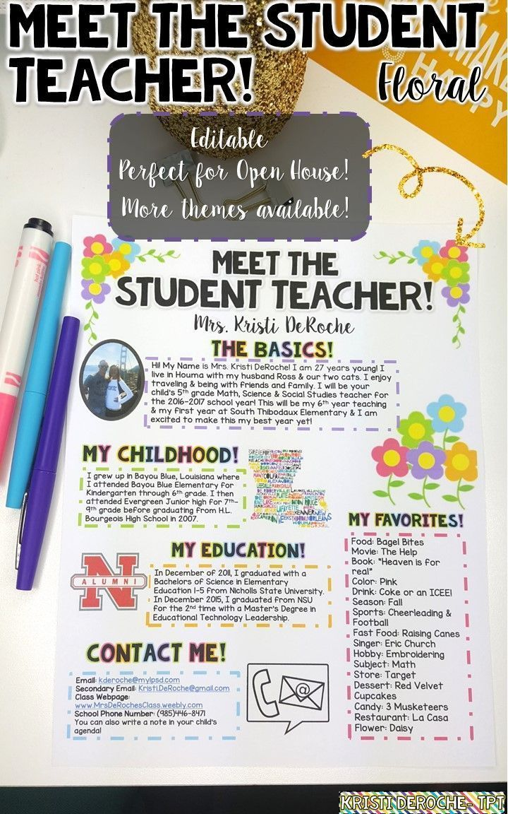 1000 ideas about preschool newsletter on pinterest preschool newsletter templates preschool for Meet the teacher newsletter