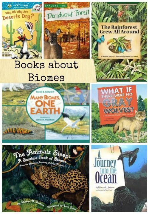 Books about biomes and ecology - great for introducing kids to the idea of habitats and why animals live where they do!
