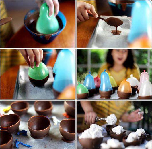 Chocolade bakjes.