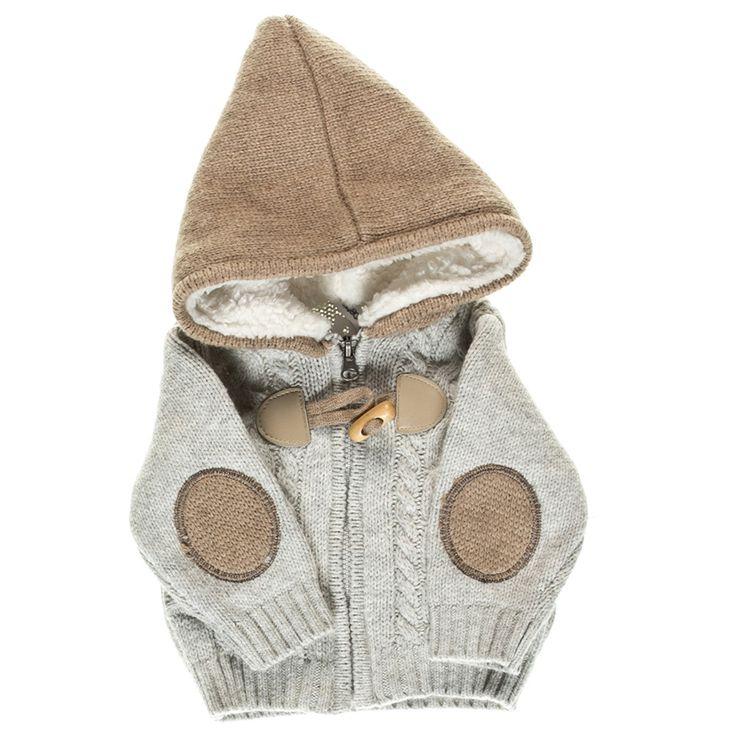 Kindo - ❤Кофта Idexe серая с коричневым капюшоном для мальчика 176-1739. ✿Доступные цены. ✓Гарантия качества. ✖Доставка по всей Украине. Звоните ☎ 38 (095) 670-02-75