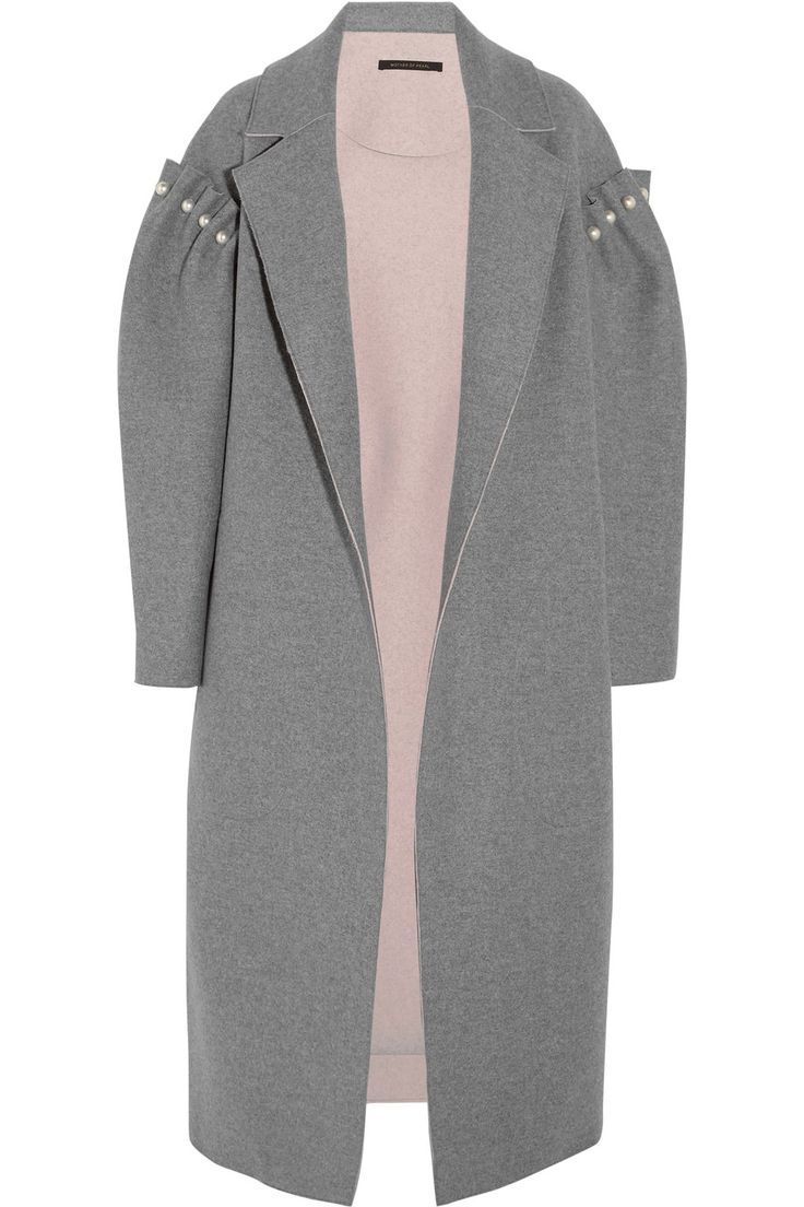 Mother of Pearl | Mitchell oversized embellished bonded wool coat | NET-A-PORTER.COM