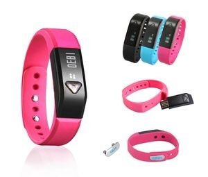 Fitness tracker. Wow your employees with a high tech and fun wellness gift! This OLED Wristband comes with a built in USB that can be charged to any USB power adapter. The sports bracelet last for up to 5 days after fully charged and features a watch, pedometer, Alarm, and Calorie Consumption.  #employee wellness