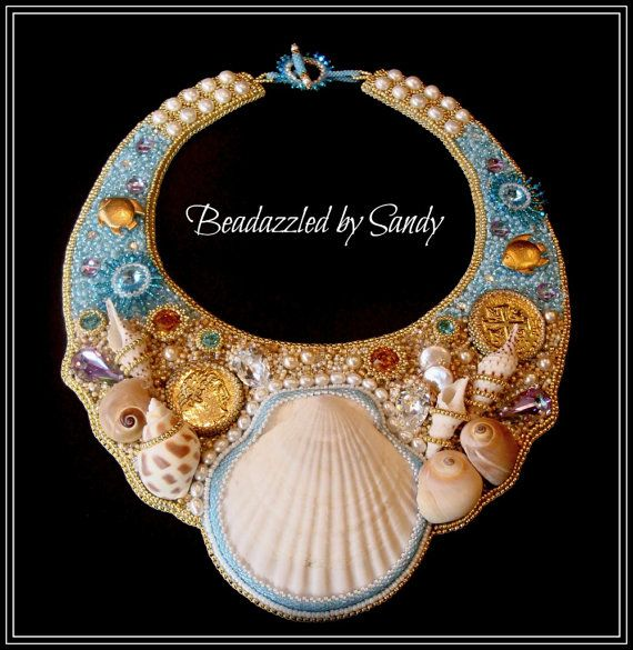 Neptune's Treasures  A Bead Embroidered by beadazzledbysandy, $495.00