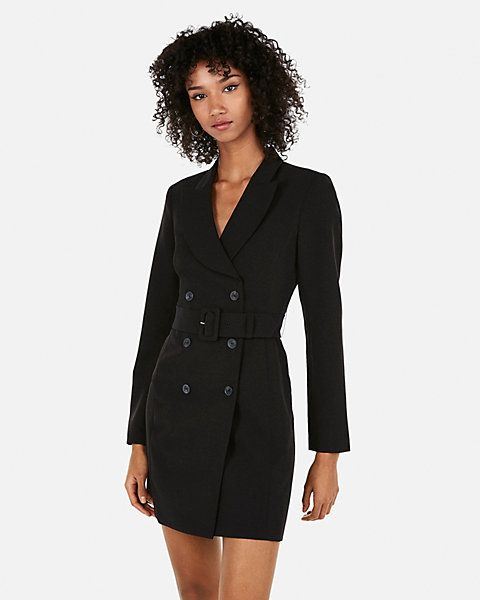 1a22cff574de Express Double Breasted Belted Suit Dress in 2019 | fashion ...