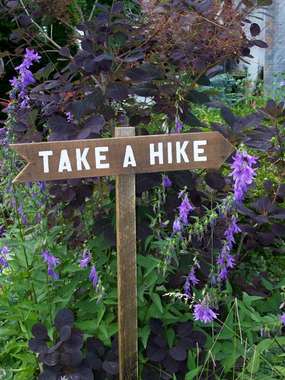 Hand Painted Sign Take A Hike Arrow by MiscKDesigns on Etsy, $22.00