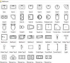 bathroom symbols   floor plan symbols, floor plan design