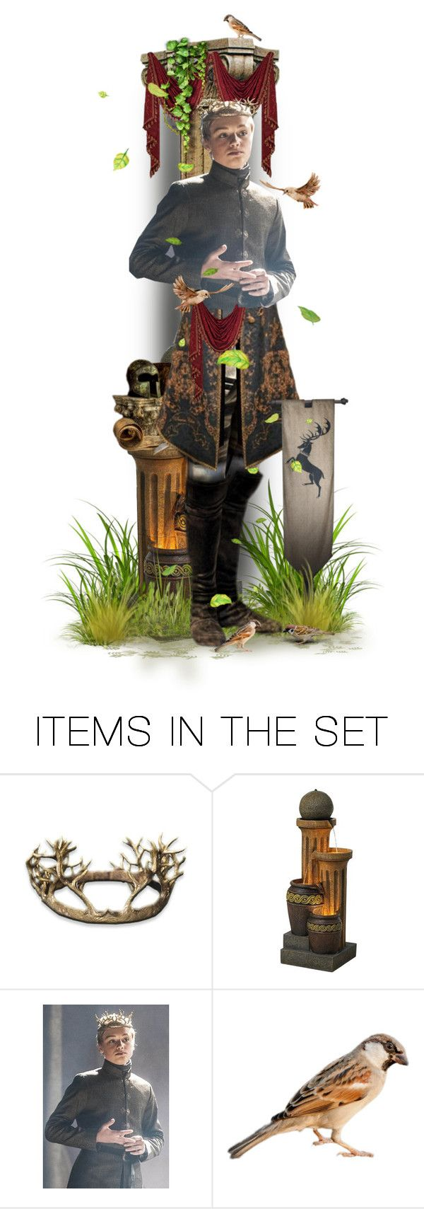 """""""King Tommen Baratheon"""" by girlinthebigbox ❤ liked on Polyvore featuring art, GameOfThrones, got and tommenbaratheon"""