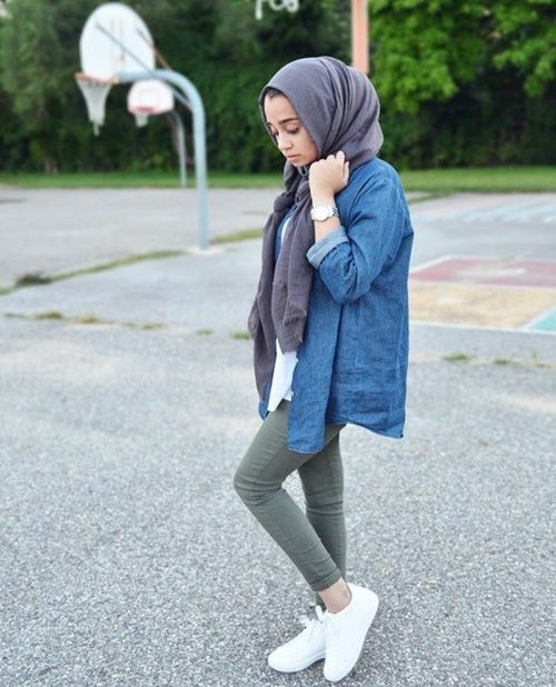 รูปภาพ casual, hijab, and style
