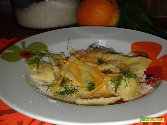 Ravioli al finocchietto selvatico e arancia  #ricette #food #recipes