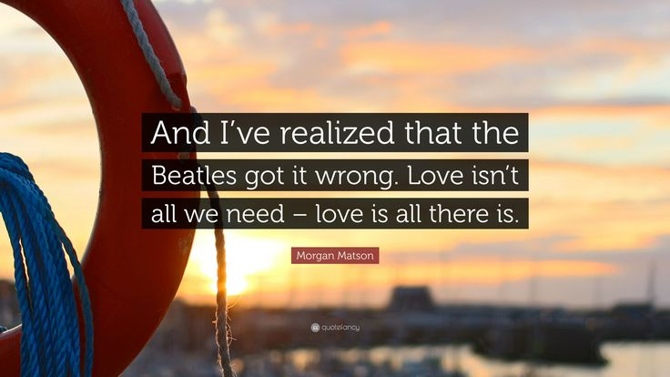 Image result for the beatles got it wrong love is all there is
