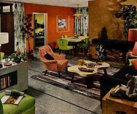 1952 Armstrong Living   Dining Room By American Vintage Home