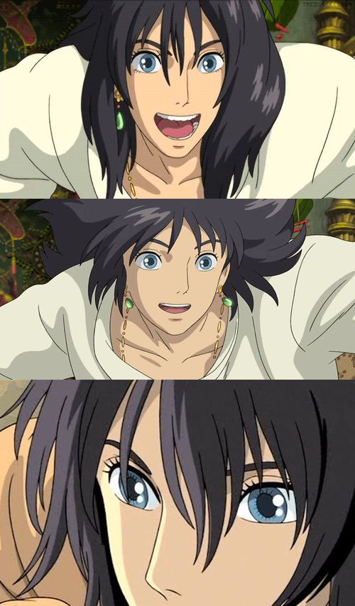 Howl Jenkins Pendragon - Howl's Moving Castle. I actually seem to like him better with black hair :)