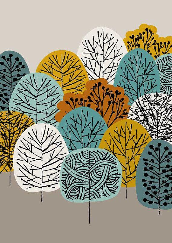 Kuching is een afdruk die wordt toegevoegd aan mijn groeiende bereik van boom-geïnspireerde beelden, met een kleurenpalet als gevolg van mijn huidige voorkeuren en seizoensgebonden inspiraties. Kleuren in dit stuk zijn gouden olijf-, turkoois, teal en tan bruin op een warme grijze achtergrond. Al mijn fotos beginnen leven als iets hand gemaakt, ofwel geschilderd, afgedrukt of getekend. Mijn beelden zijn vervolgens digitaal geregeld en gekleurd.  Het papierformaat is A4, meet ongeveer 8,25 x…