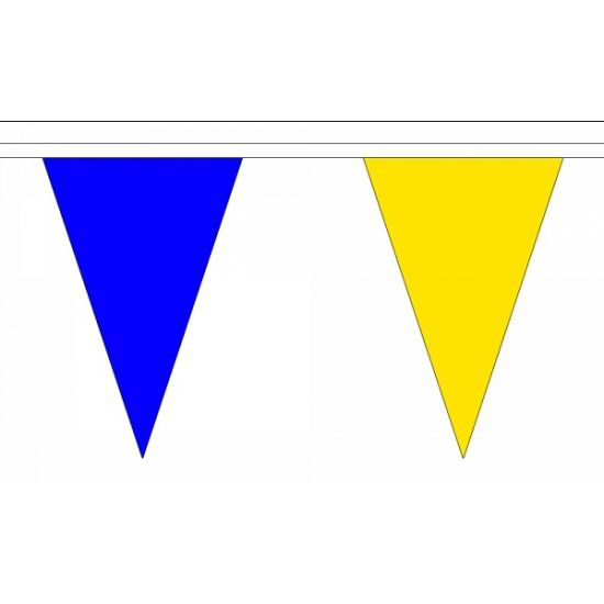 Polyester vlaggenlijn blauw met geel | Fun en Feest