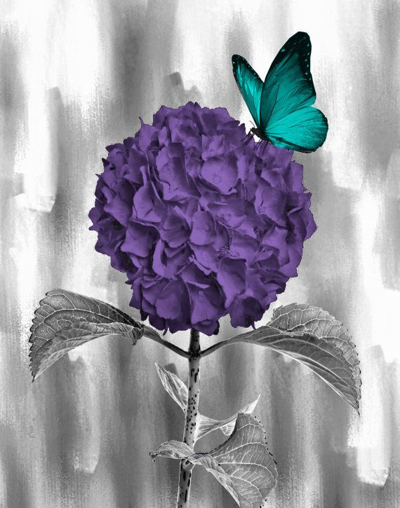 Teal Purple Wall Art Photography Decorative By Littlepiephotoart