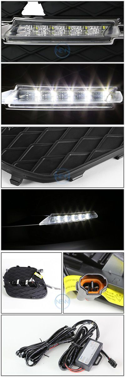 Motors Parts And Accessories: Led Drl Daytime Running Fog Light Bumper Lamp+Harness For 2011-2013 Bmw E70 X5 -> BUY IT NOW ONLY: $101.87 on eBay!