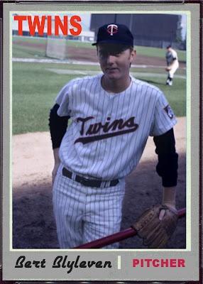 1970 Topps Bert Blyleven, Minnesota Twins, Baseball Cards That Never Were.