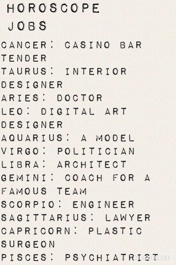 | Zodiacs | Horoscope Jobs | Cancer, Taurus, Aries, Leo, Aquarius, Virgo, Libra, Gemini, Scorpio, Sagittarius, Capricorn, Pisces |