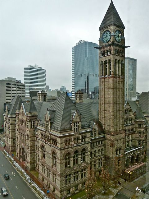 Old City Hall in Toronto, Canada (by gregorywass). I worked in the building behind, at the extreme left.